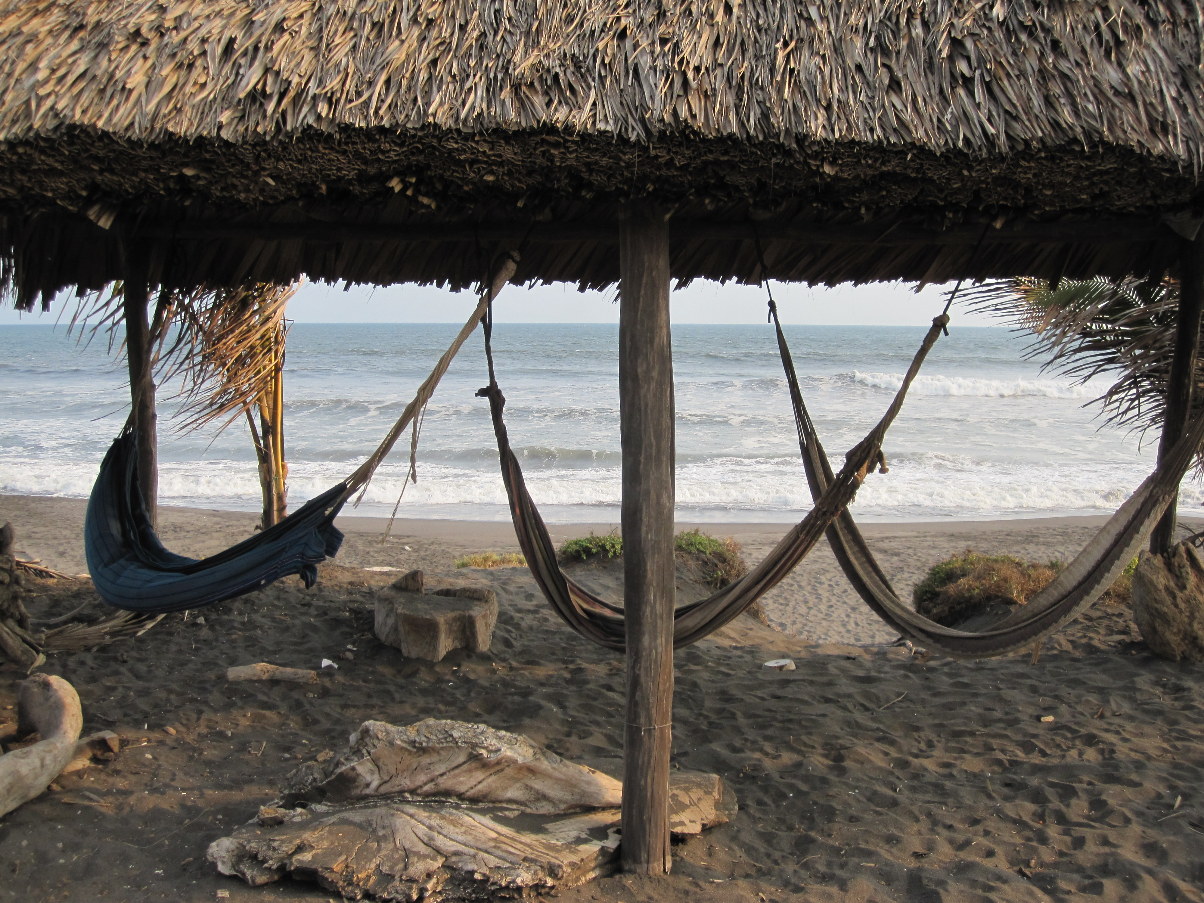Hammocks and the Guatemalan surf beyond