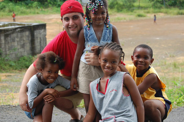 Me and the local kids in Domincia