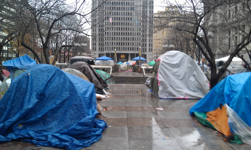 Tents at Occupy Philadelphia