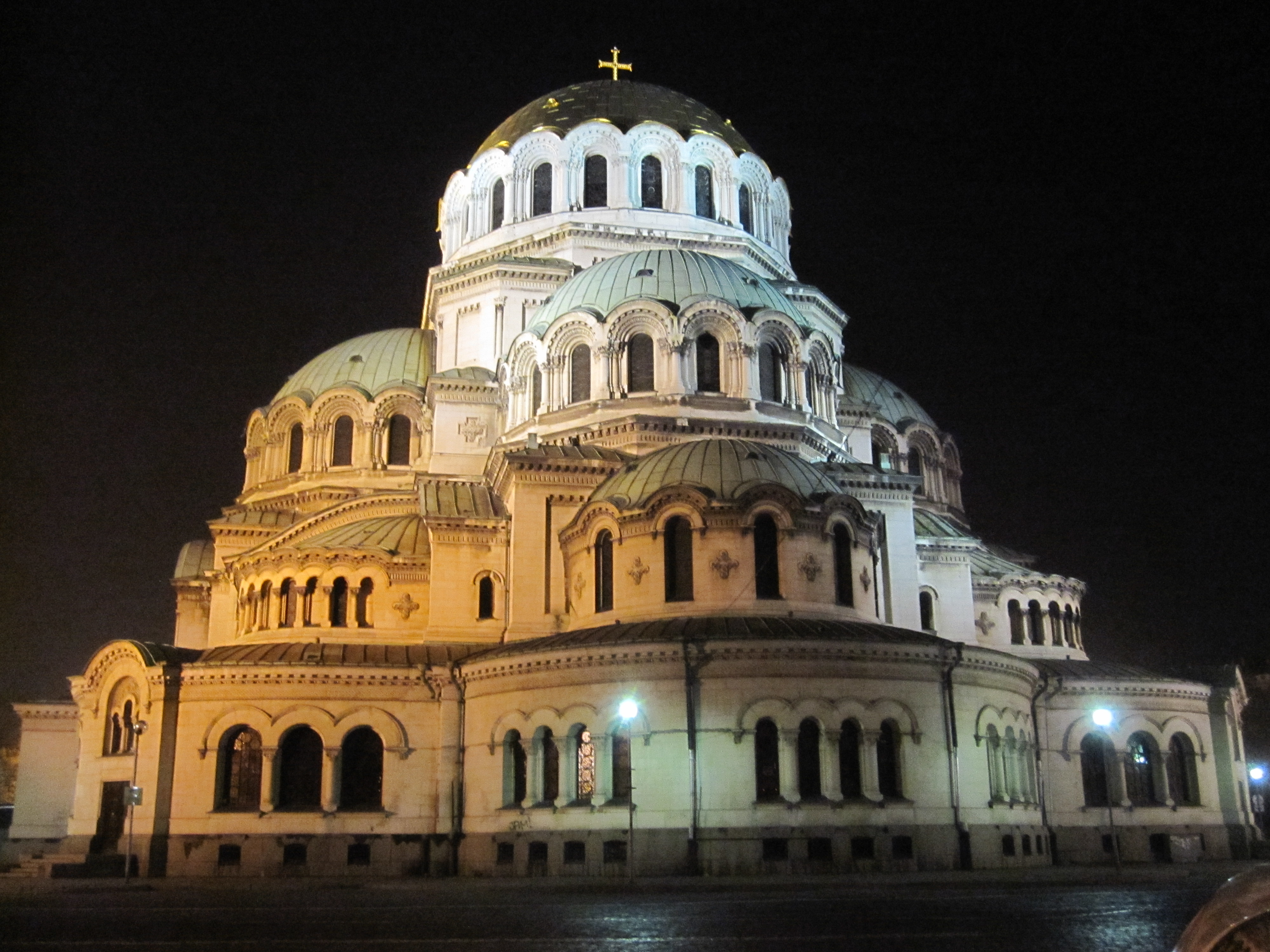 Alexander Nevsky Cathedral at night