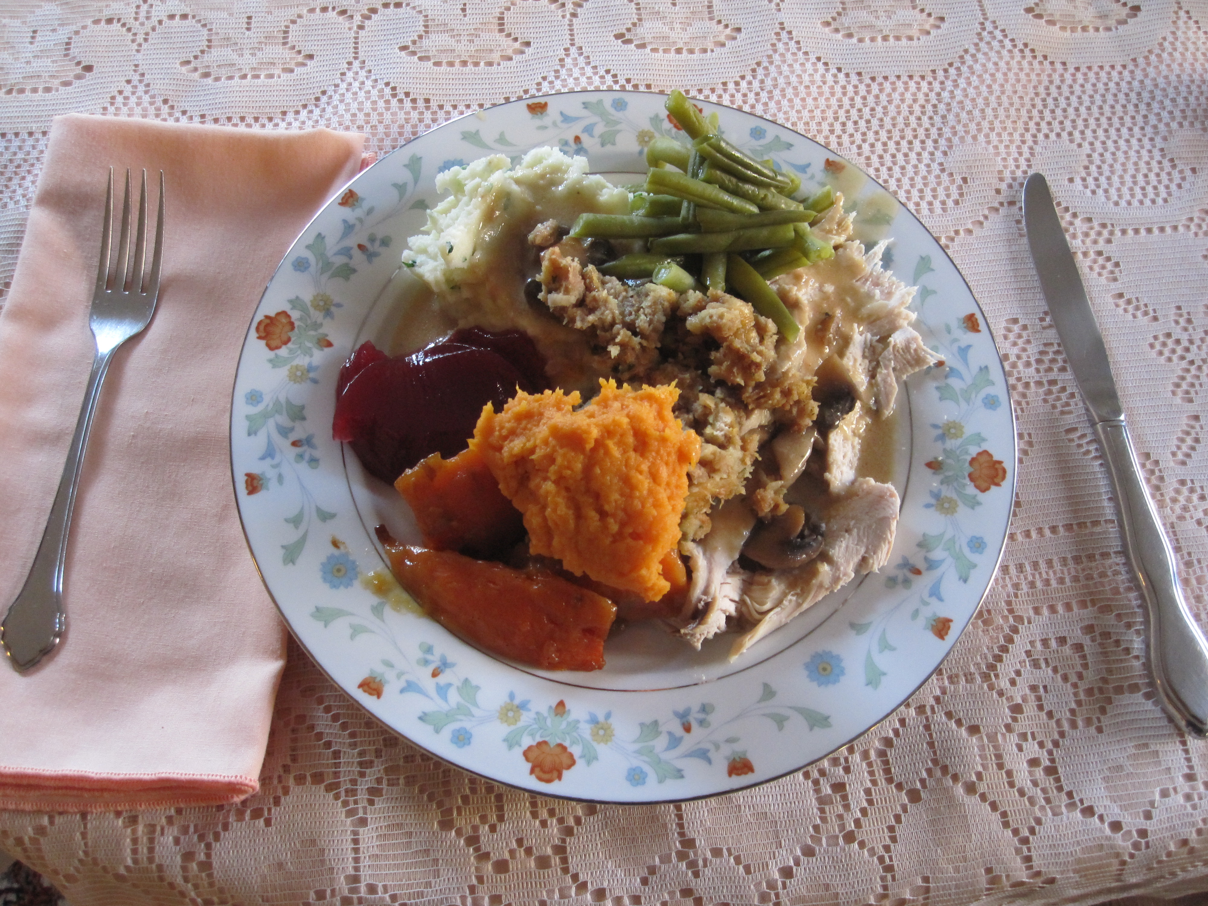 My Thanksgiving Plate!