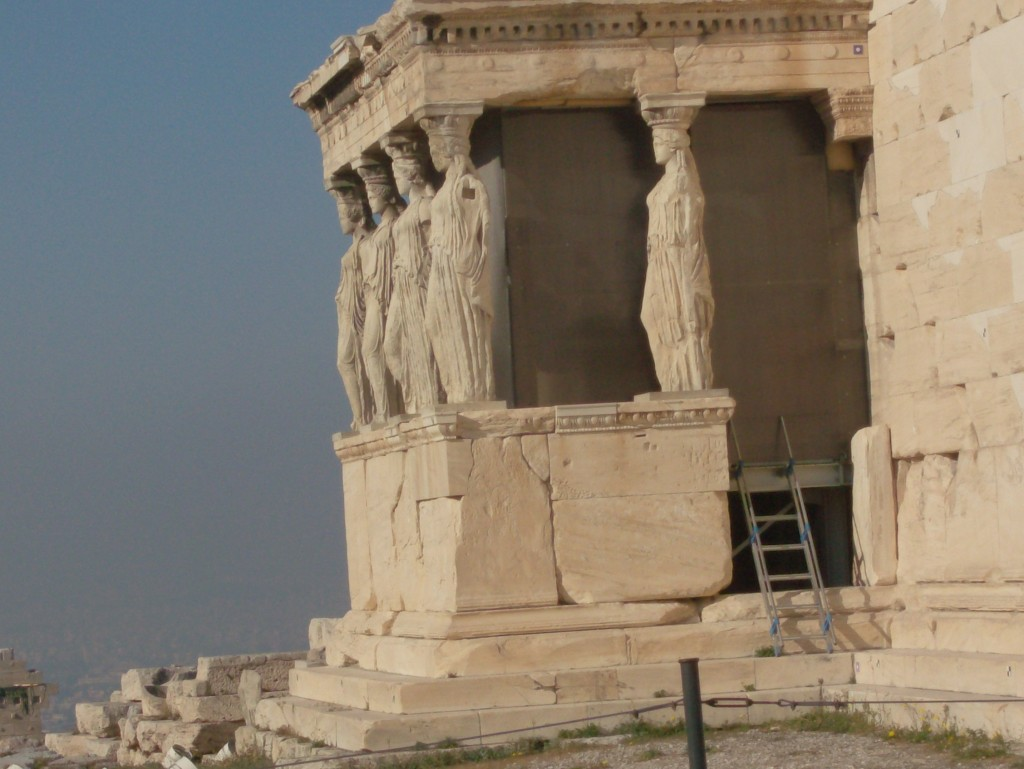 Temple Ruins in Athens Greece