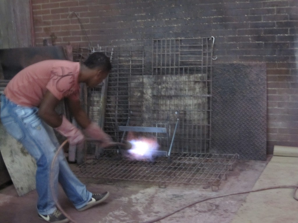 Blow Torch worker in Colombia