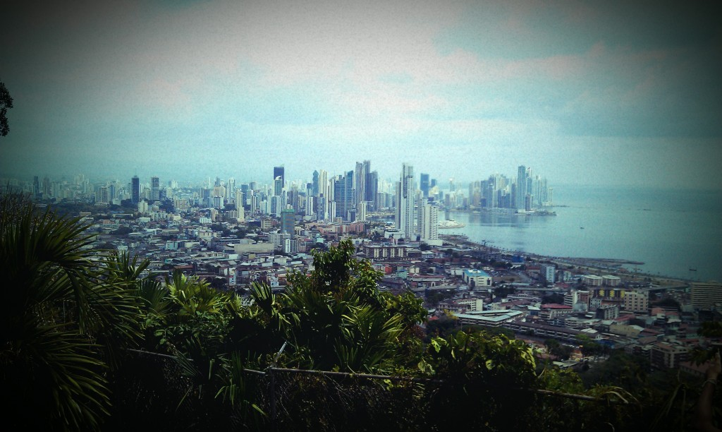 The view from Cerro Ancon in Panama City