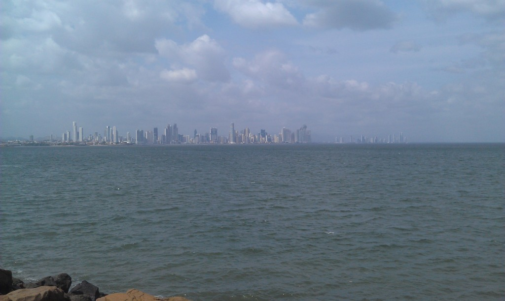 View of the Panama City skyline from the Amador Causeway