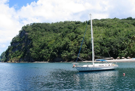 A boat in the Caribbean