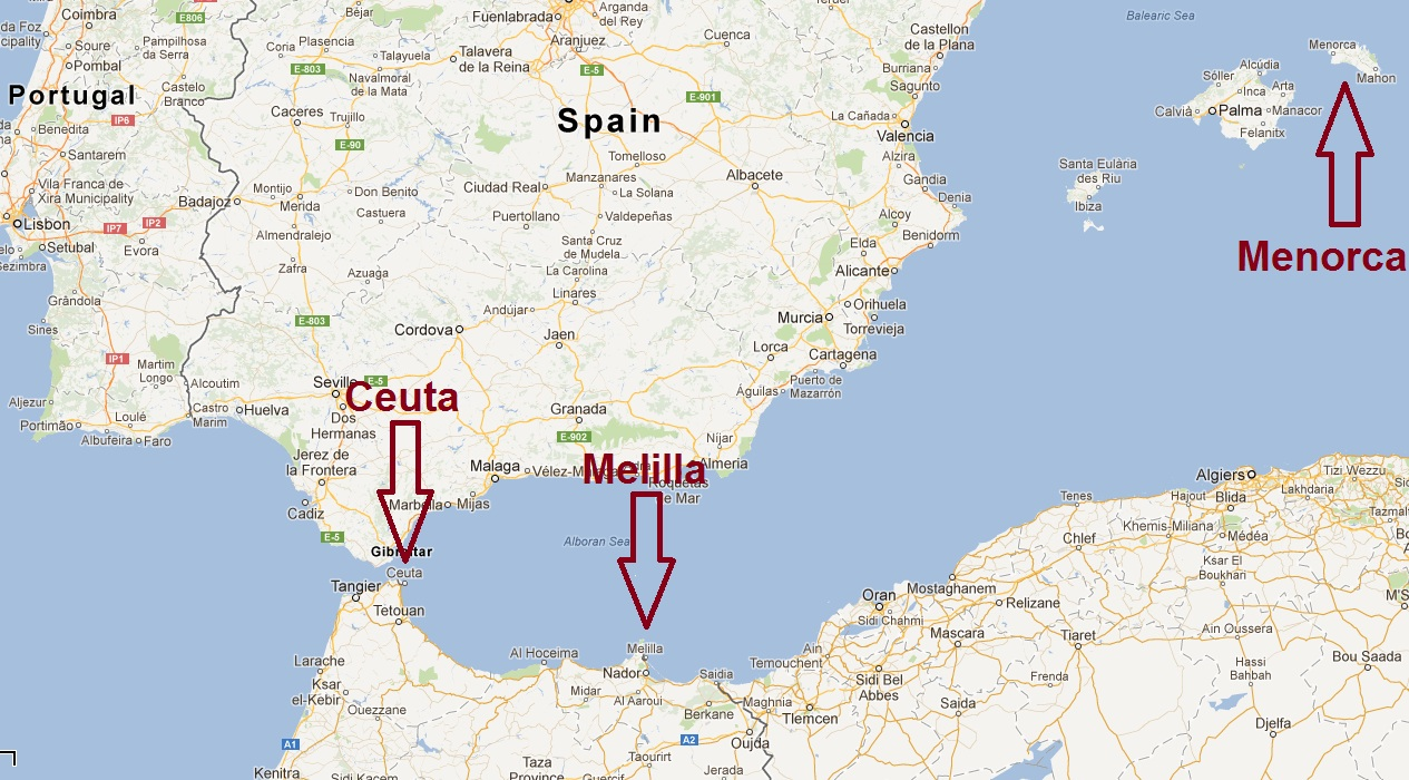 Ceuta, Melilla and Menorca
