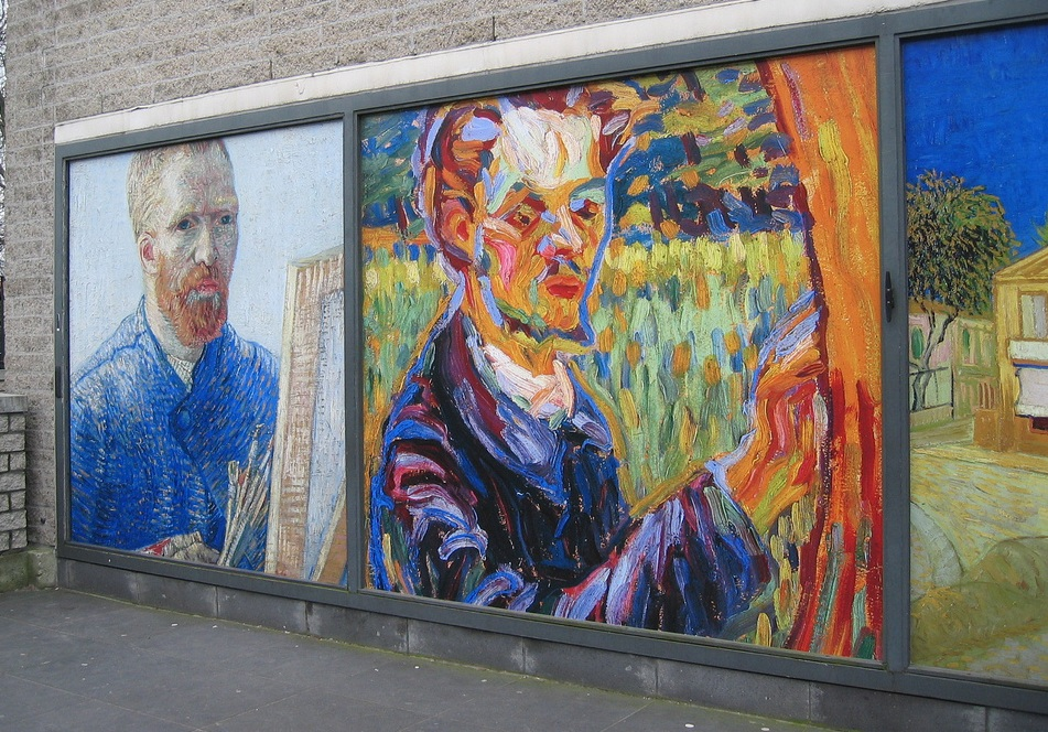 Exterior of the Van Gogh Museum in Amsterdam, The Netherlands