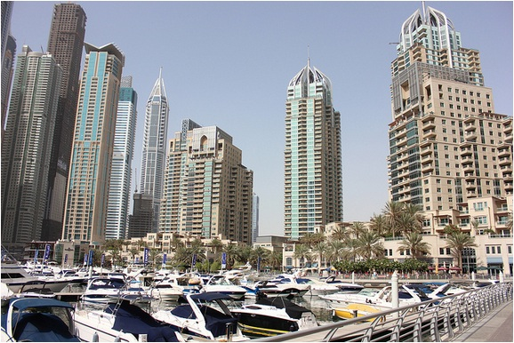 Dubai Marina and Buildings
