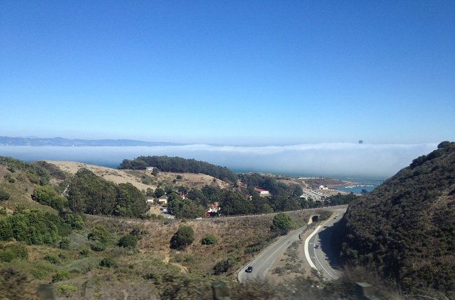 fog in summer in San Francisco