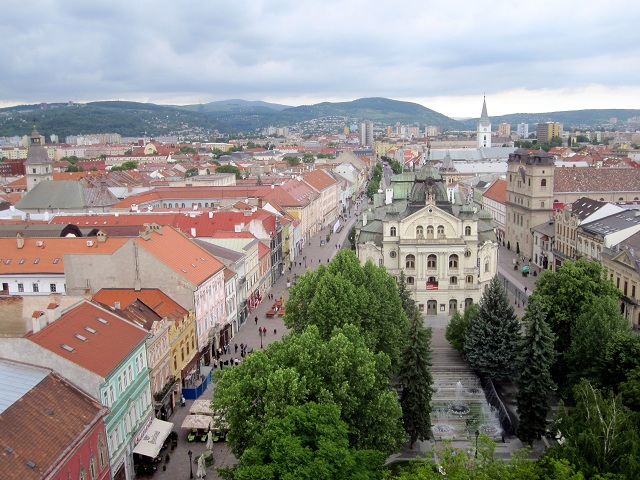 View from the cathedral in Kosice