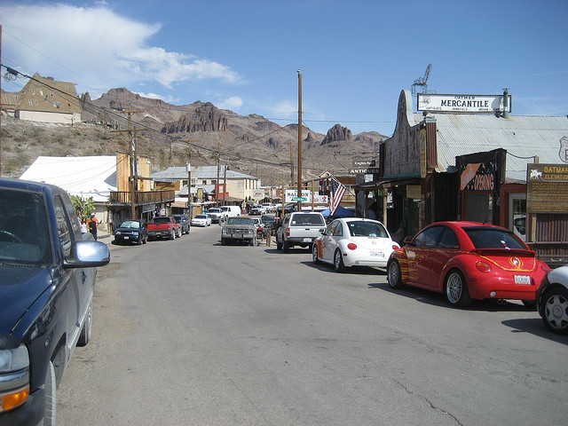 town center of Oatman, Arizona