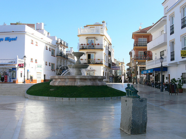 Plaza in Torremolinos, Spain