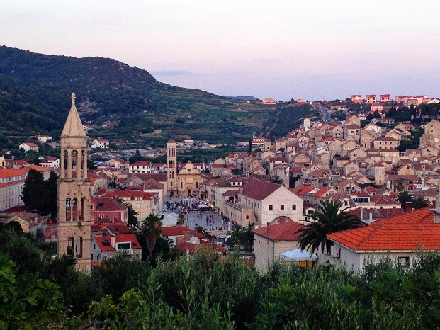 Hvar Town at sunset