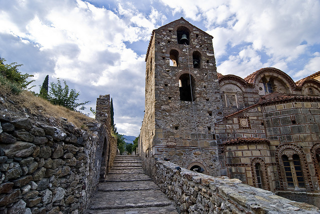 ruins in Mystras, Greece