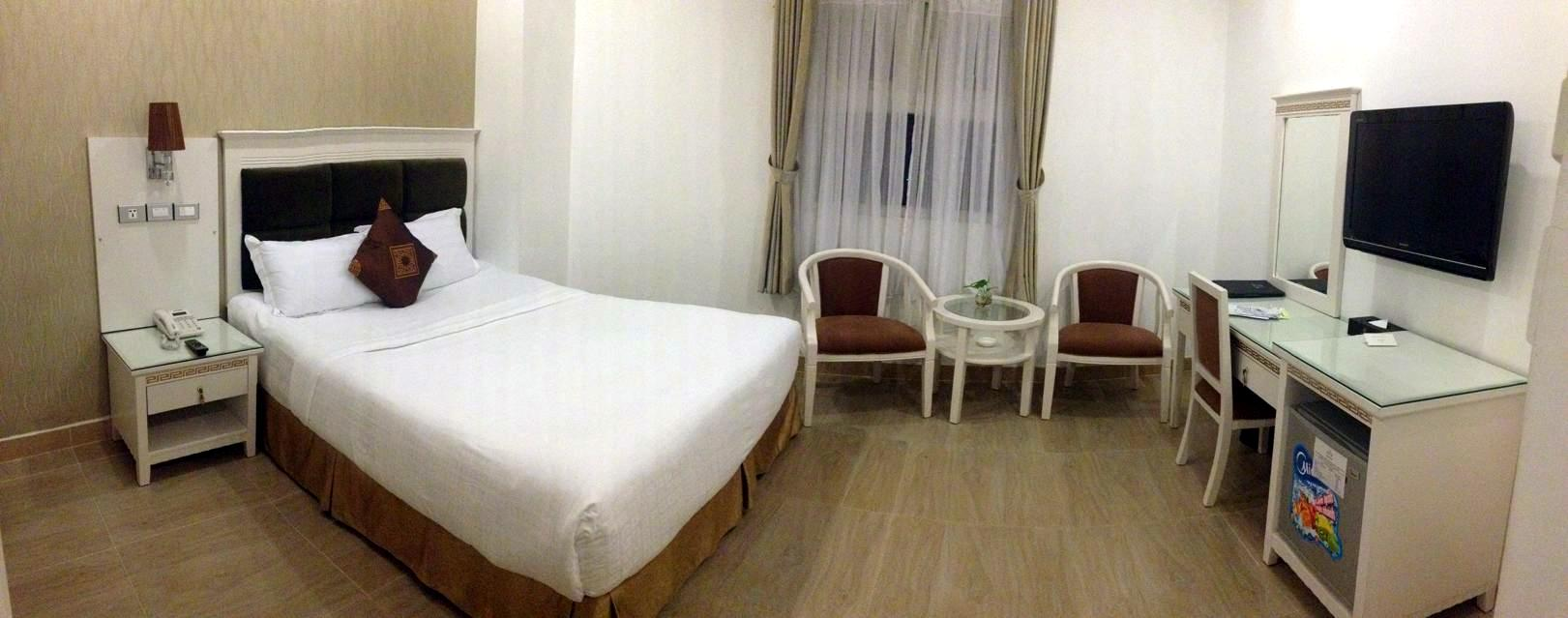 room at Ruby River Hotel, Siagon, Vietnam