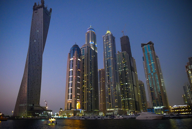 modern skyline of Dubai