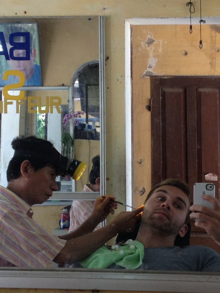 ear cleaning in Hoi An, Vietnam