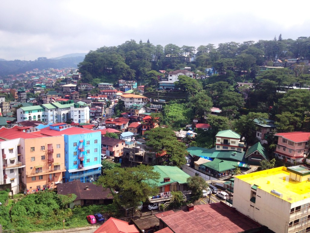 view of Baguio City, Philippines
