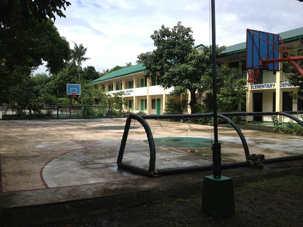 soccer net at philippine school for blind