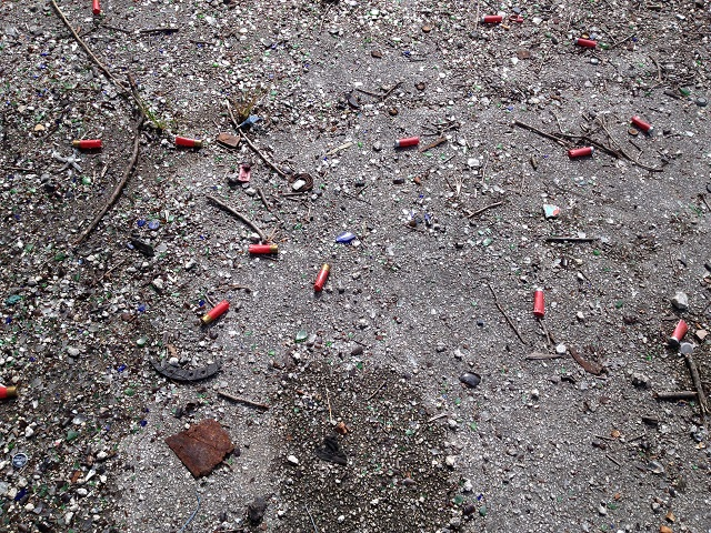 bullet casings at army base in Miami