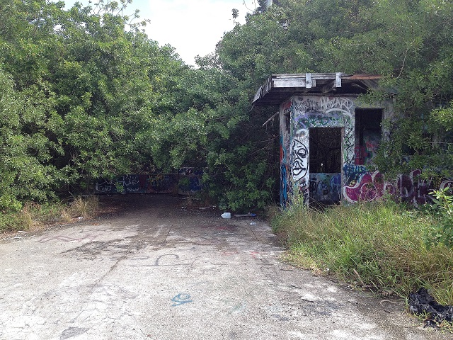 guard house at abondoned army base