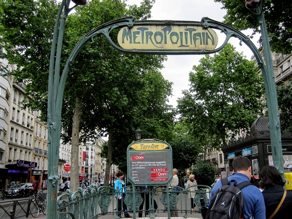 Metro stop in Paris, Blanche