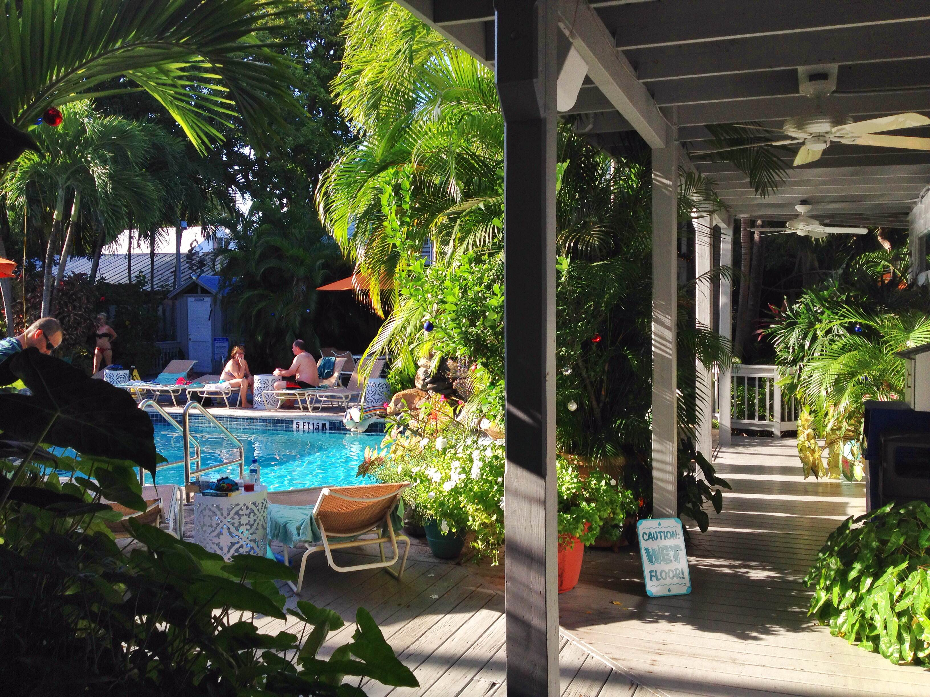 Old West Hotels Pool at Hotel in Key West