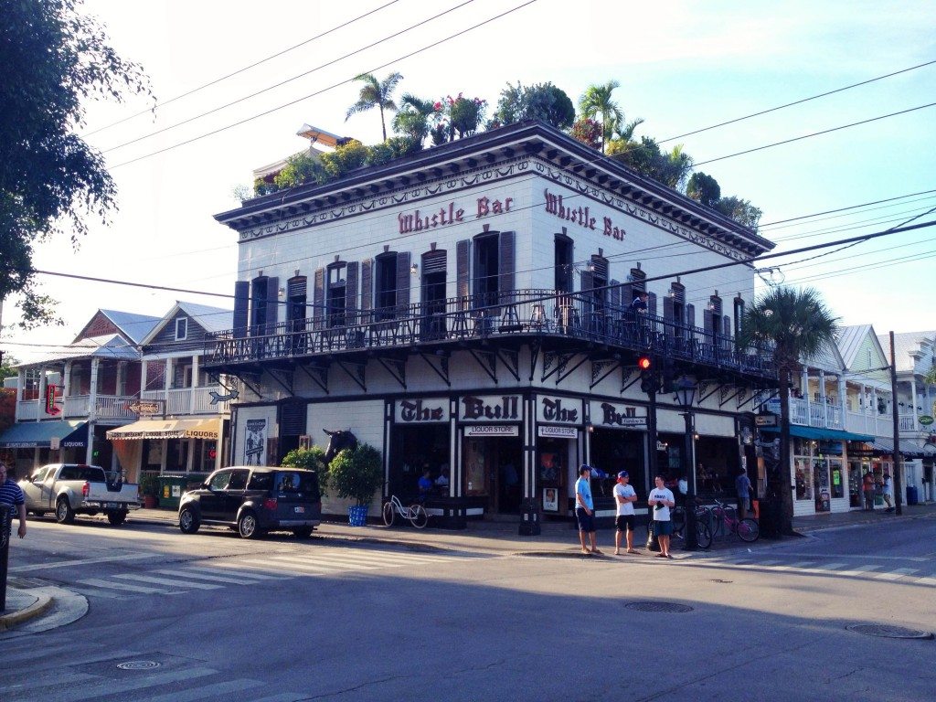 exterior of the Whistle Bar, Key West