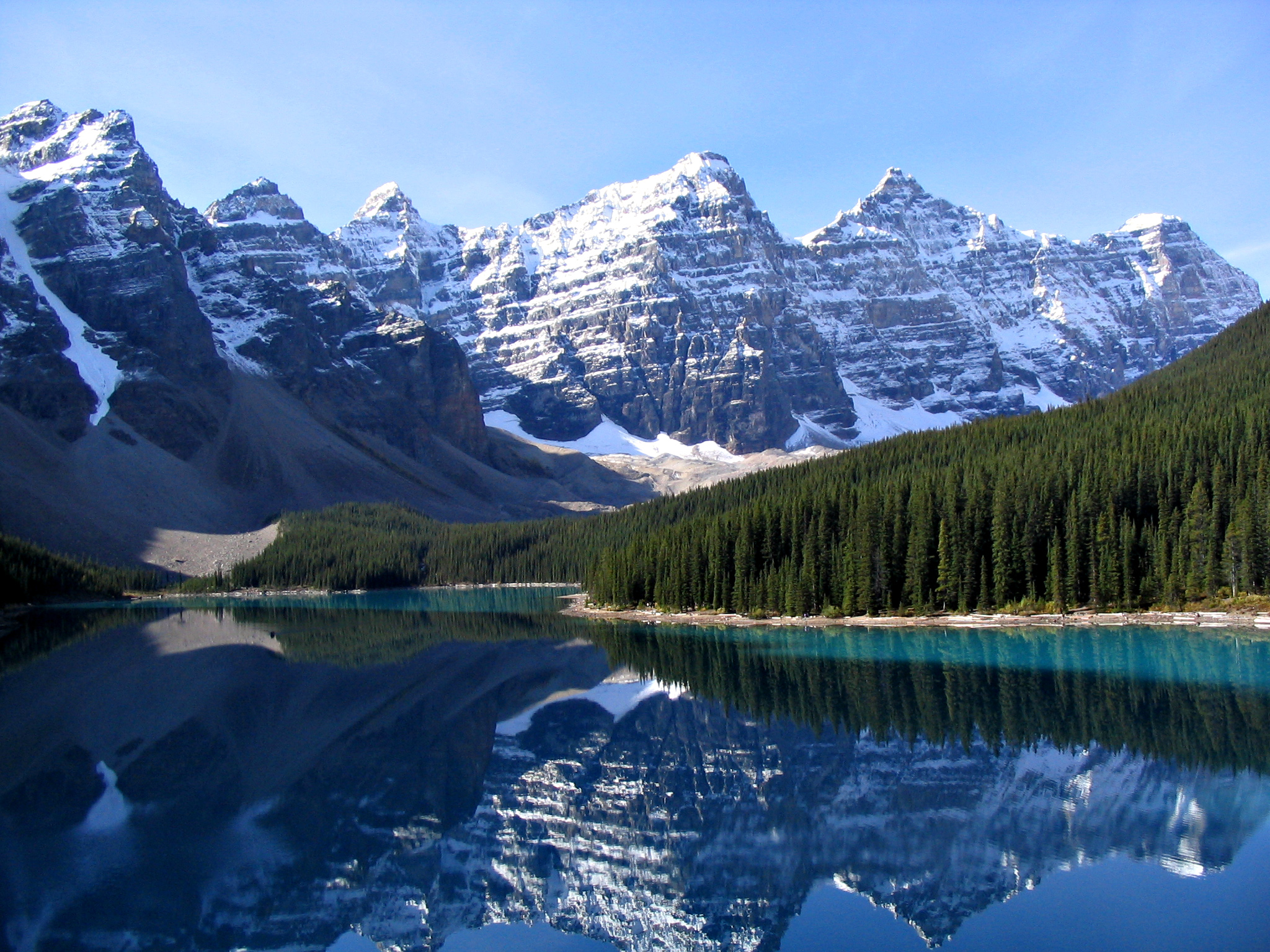 Beholding life-changing vistas like Moraine Lake in the Canadian Rockies is just one of the top reasons to visit Canada!