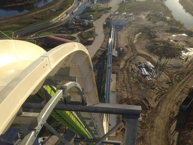 Verruckt, the soon-to be highest waterslide in the world in Kansas City, Kansas