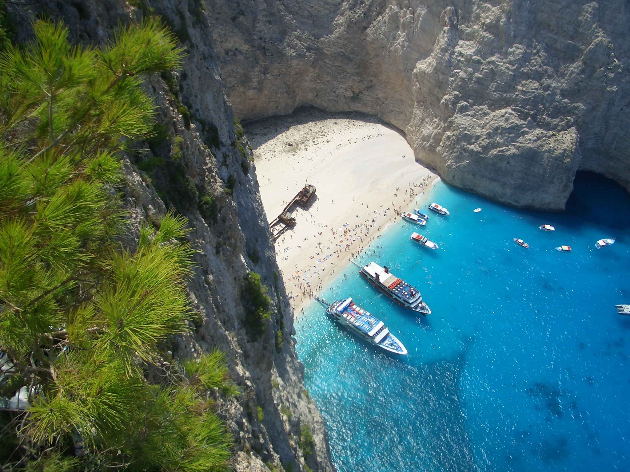 Secret beaches like this one abound on Zakynthos, one of many top destinations in Greece