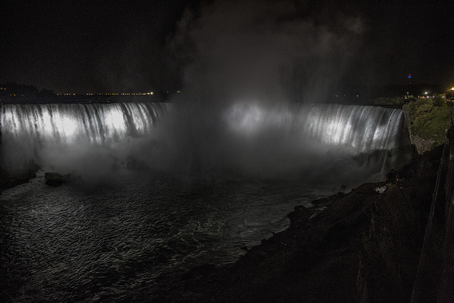 Niagara Falls at night time