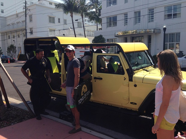 stretch jeep in Miami Beach