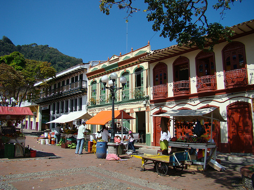 The highly attractive streets of Antioquia, Colombia