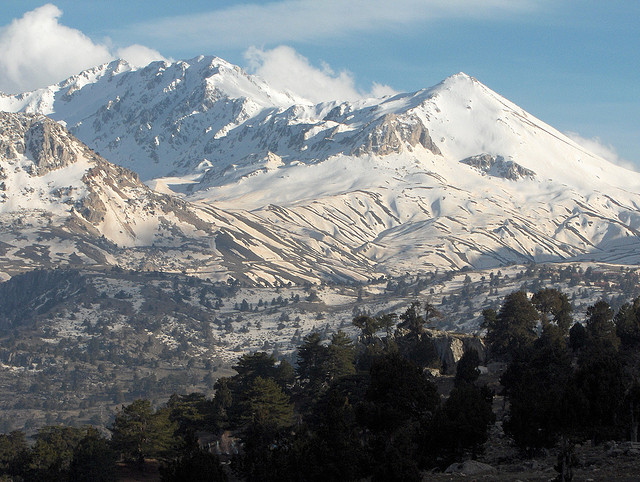 mountains in Turkey in the winter