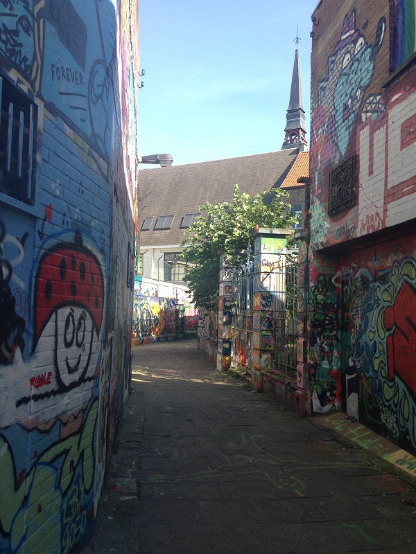 graffiti alley in Ghent