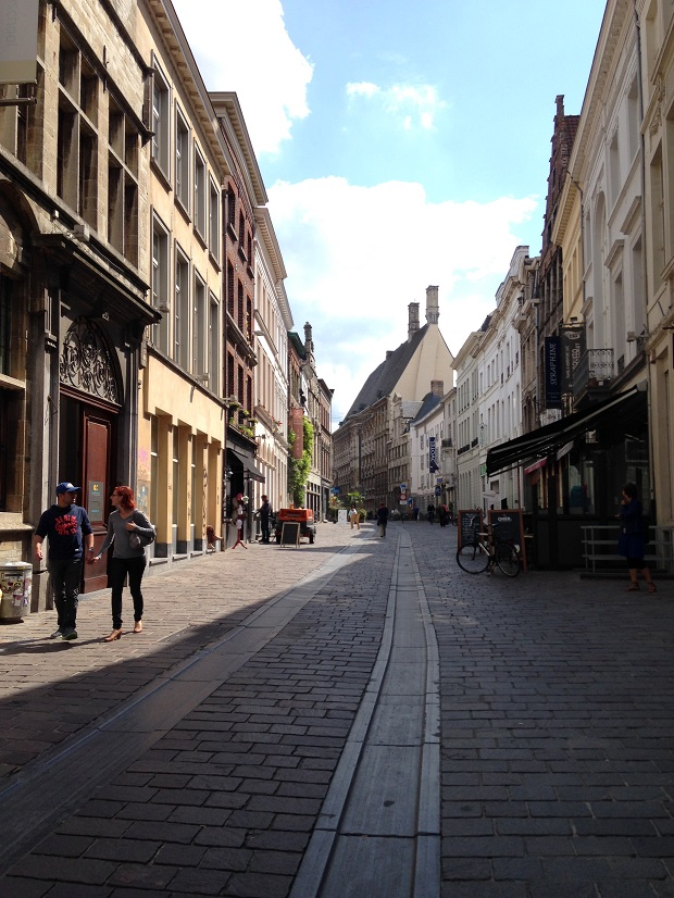 walking street in Ghent