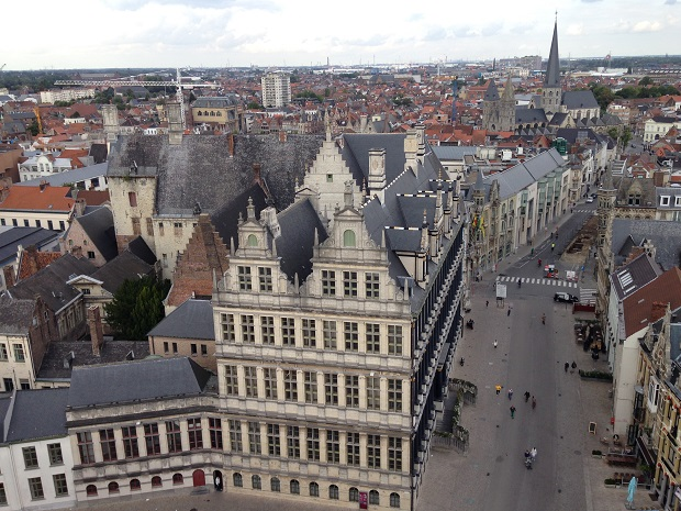 aerial view of Ghent