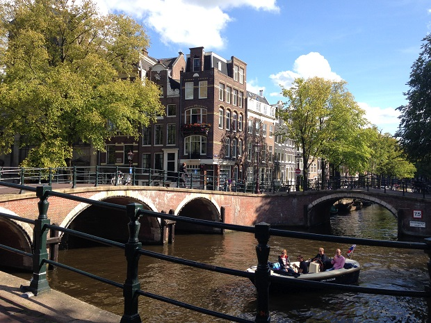 beautiful canals in Amsterdam