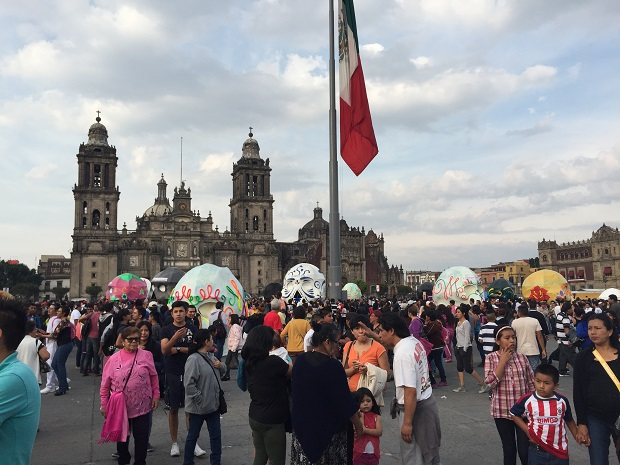 day of the dead celebration zocalo mexico city