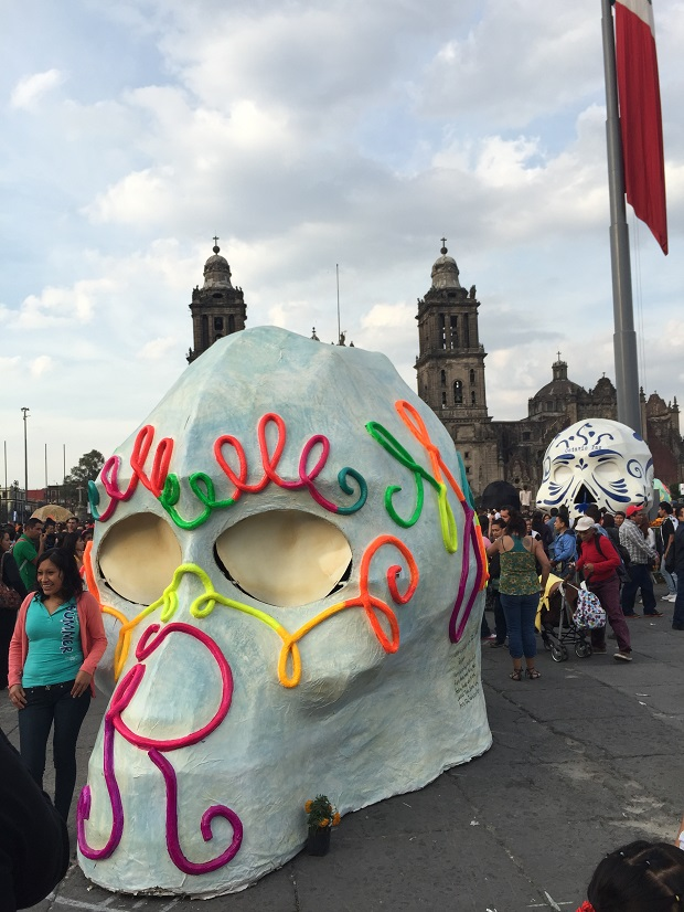 day of the dead skull mexico city