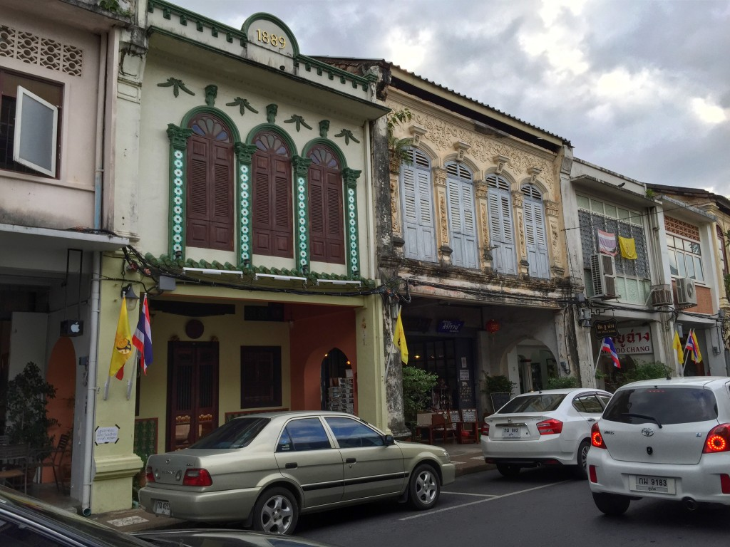 historic colonial architecture in Phuket Town, Thailand