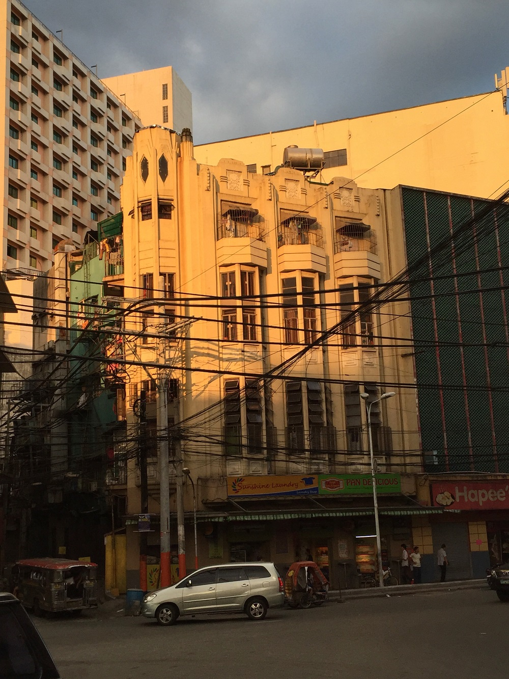 an art deco building in Manila, on the Escolta, Philippines