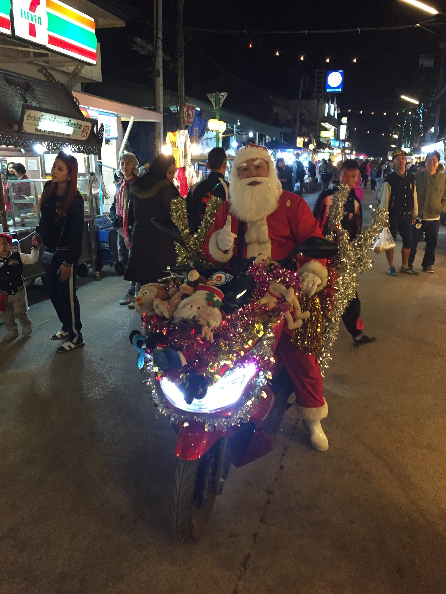 christmas in pai, thailand