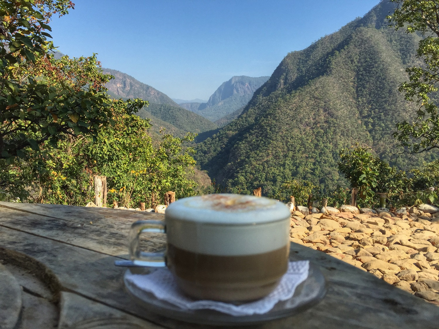 coffee on mae hong son loop, thailand, mountains