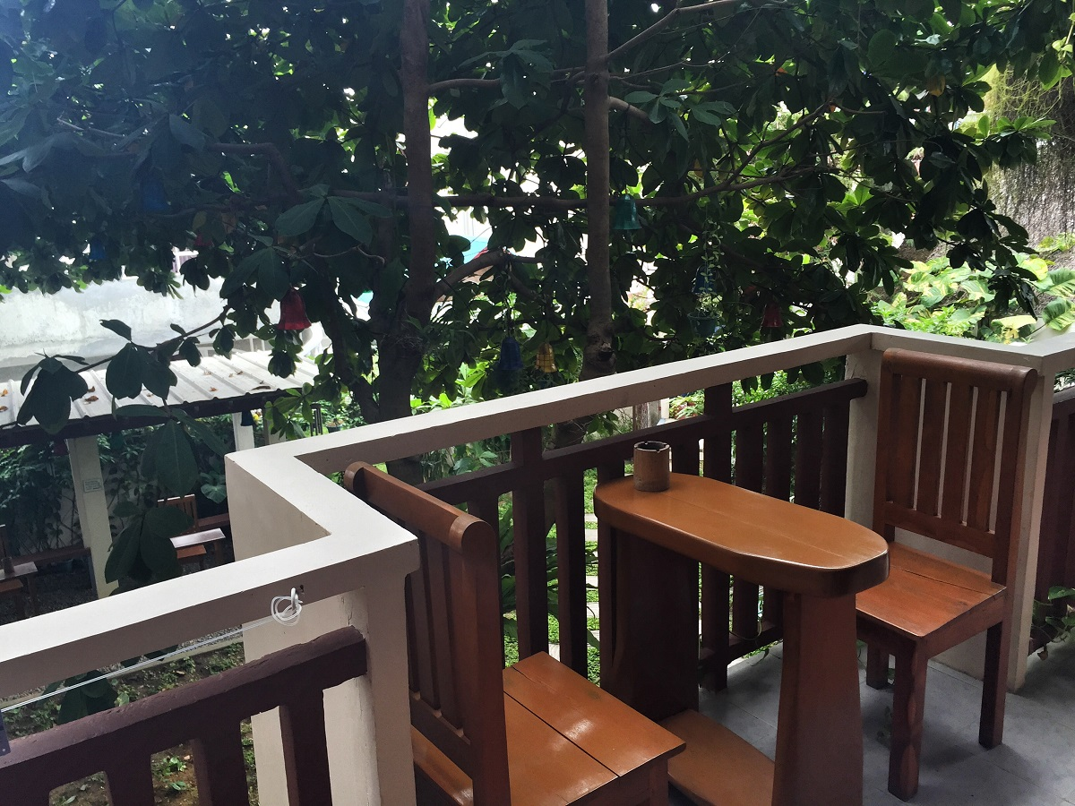 patio at Agos Hotel in Station 2, Boracay
