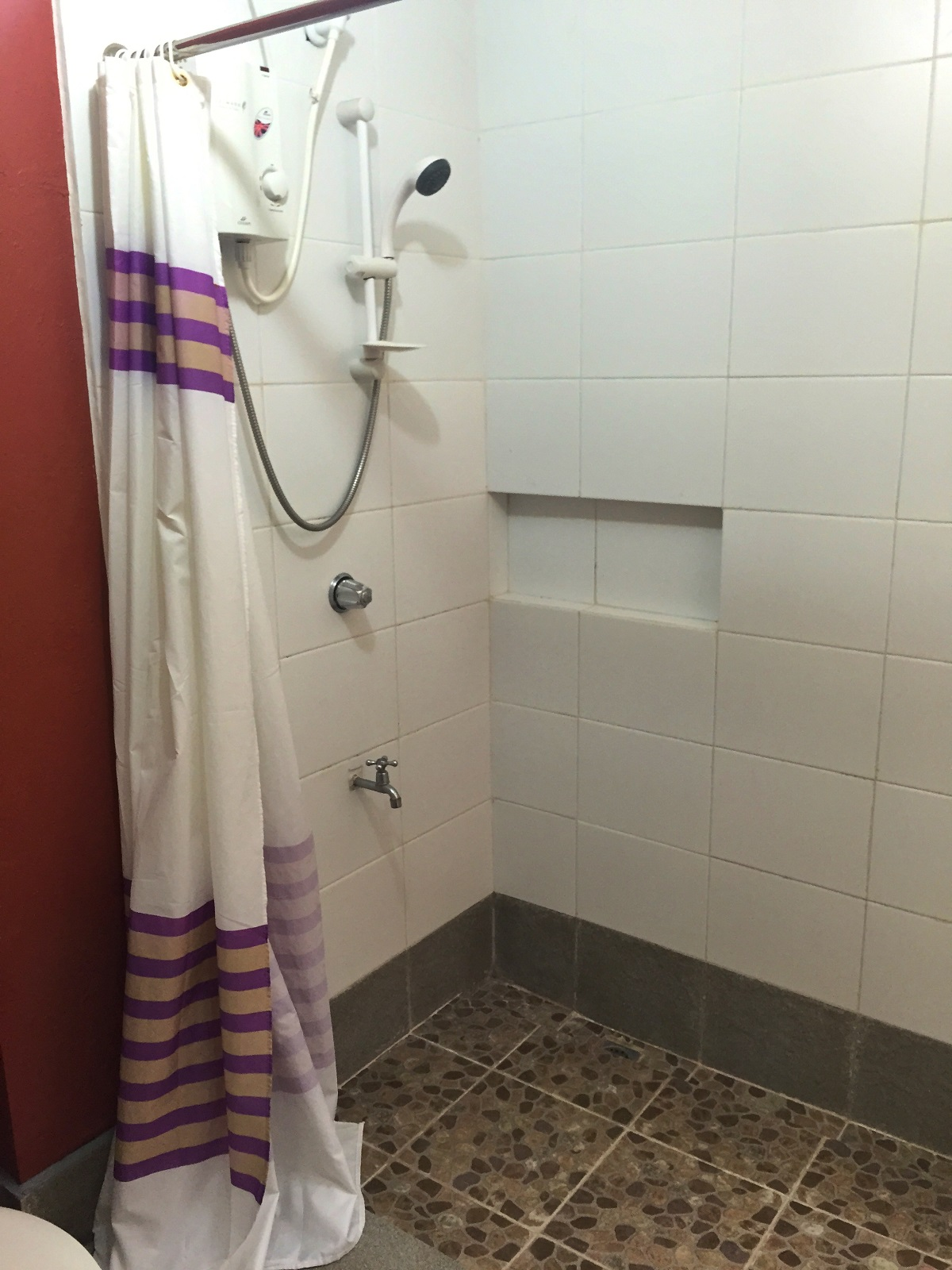 shower at Agos Rooms and Beds, Boracay, Philippines