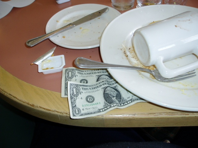 In order to avoid evil glares from service staff, learning the art of tipping abroad is essential ... photo by CC user Scott Sanchez on wikimedia
