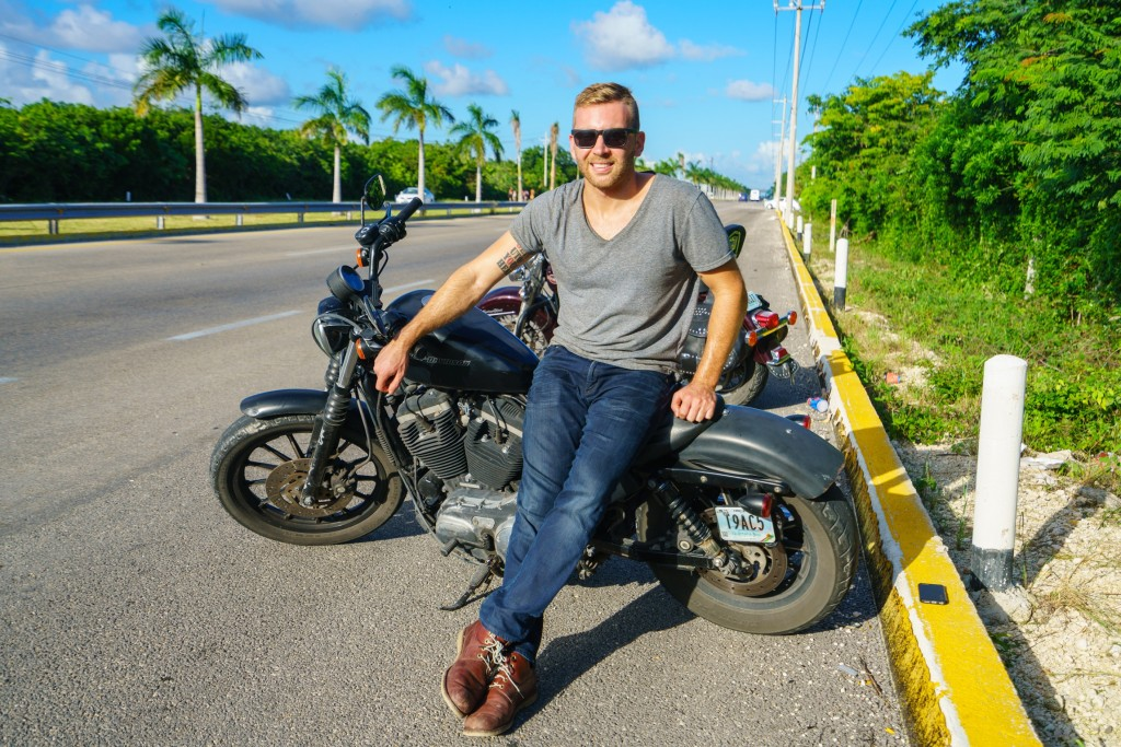 Jeremy Albelda on a motorcycle road trip in Mexico